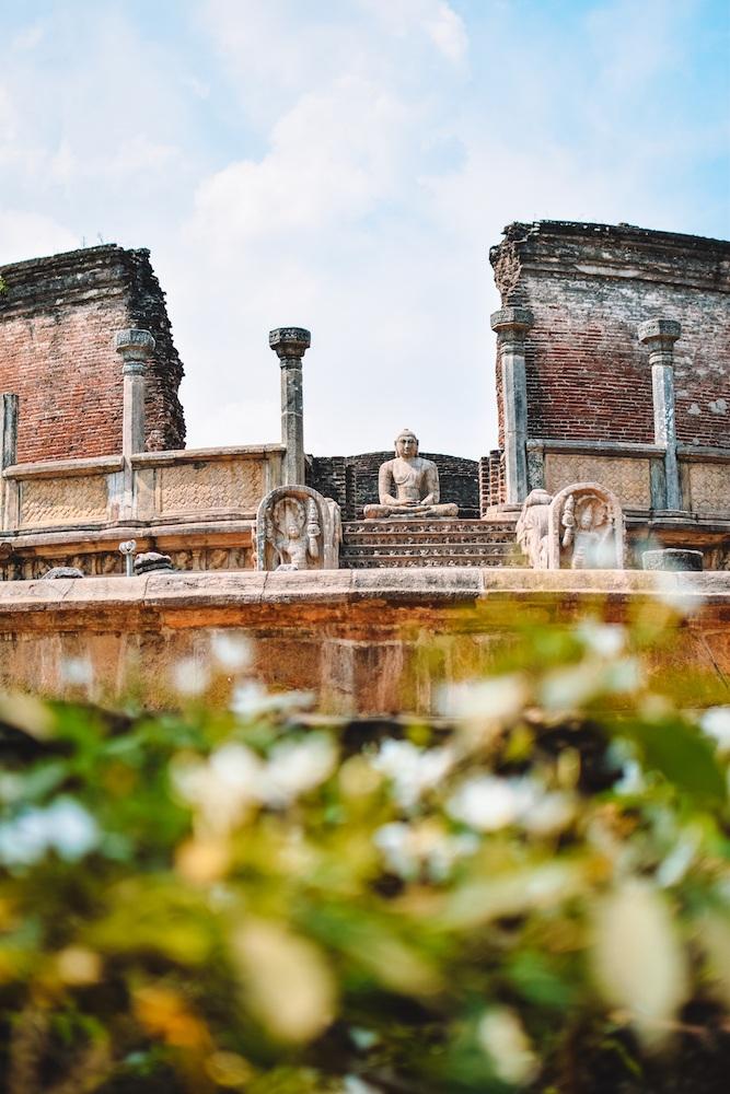 One of the many temple ruins in Polonnaruwa, Sri Lanka
