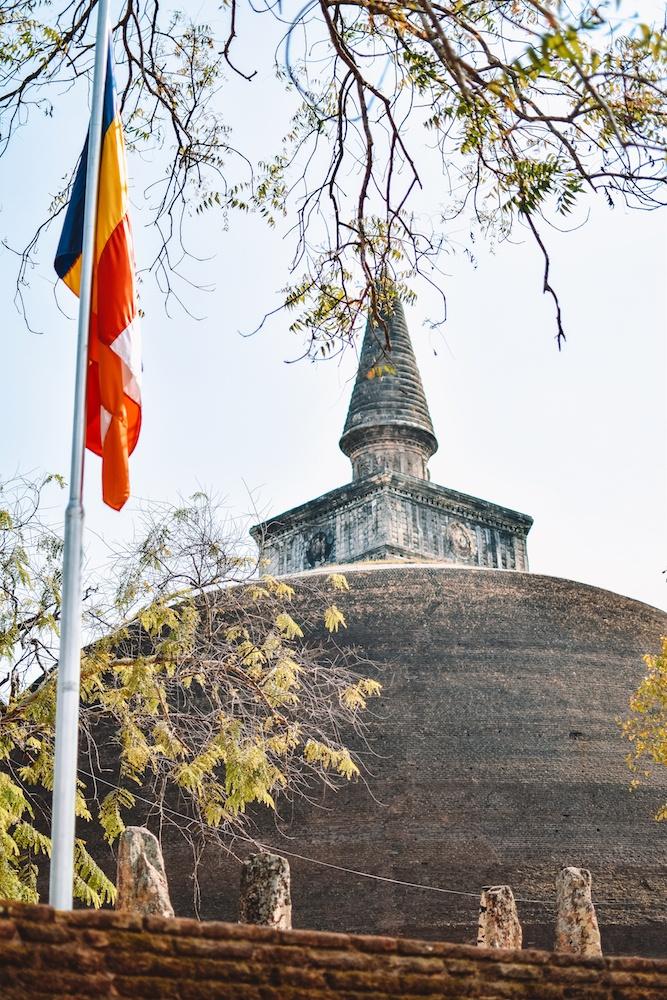One of the stupas in Polonnaruwa, Sri Lanka