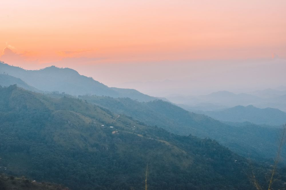 Sunrise from Little Adam's Peak in Ella, Sri Lanka