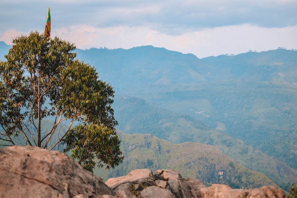 The view from the top of Ella Rock in Sri Lanka