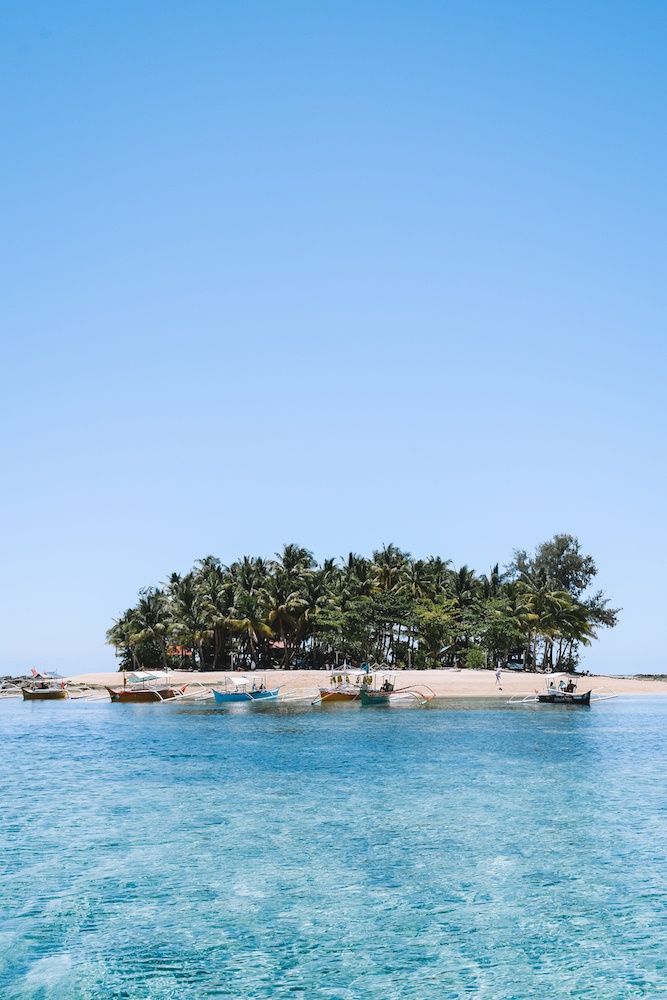 Guyam Island, the first stop of our Siargao island hopping tour