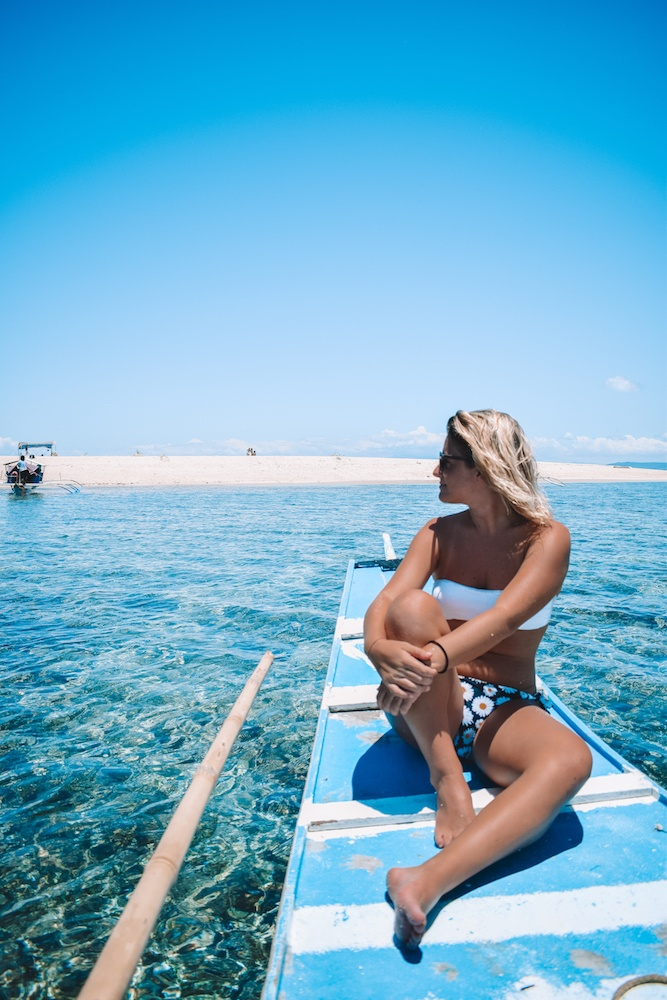 Island hopping in Siargao, Philippines, including Guyam, Naked and Daku islands