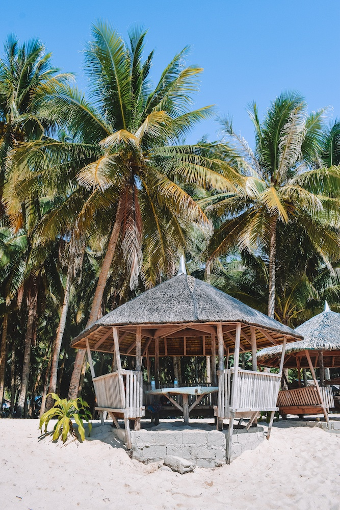 Our cabana on Daku Island where we had lunch during our island hopping tour in Siargao, Philippines
