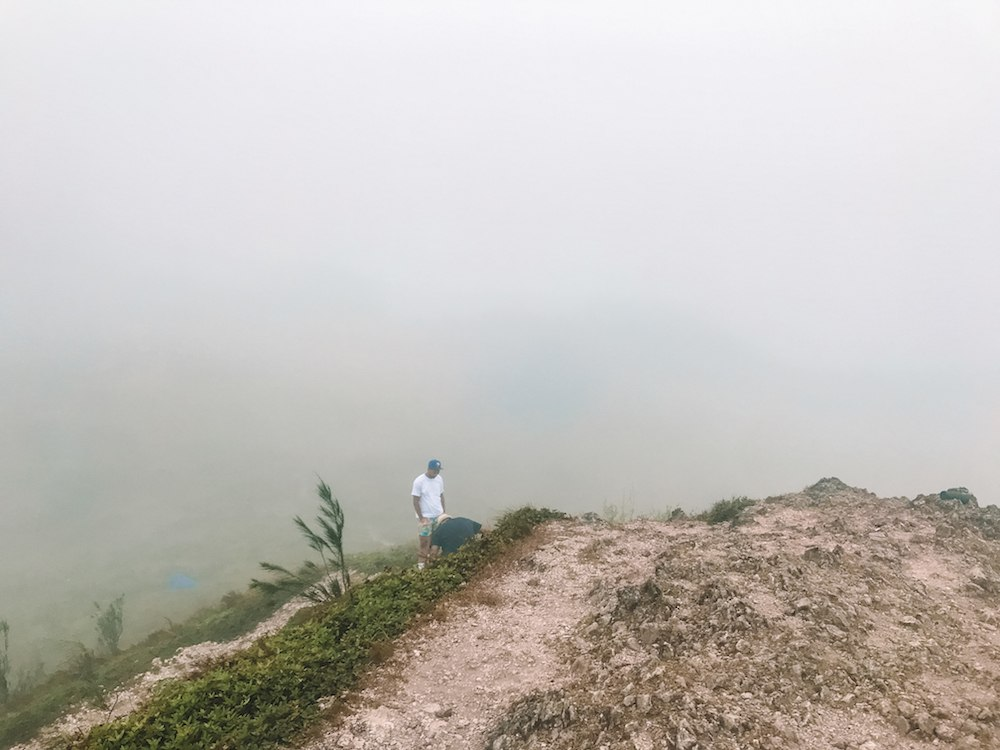 The view from Osmena Peak on a misty day