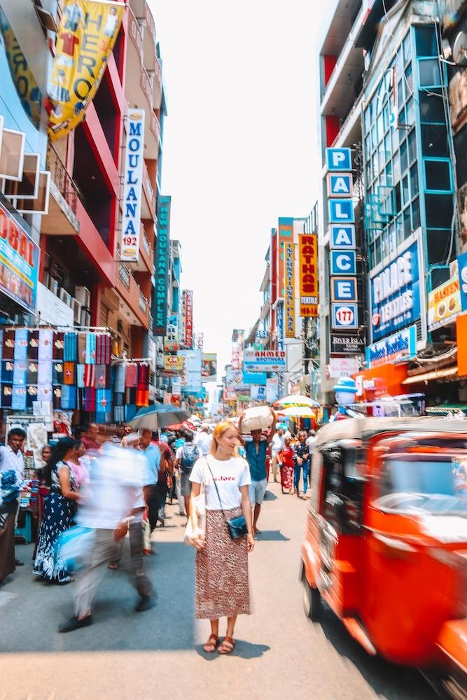 The bustling streets of Petta in Colombo, Sri Lanka