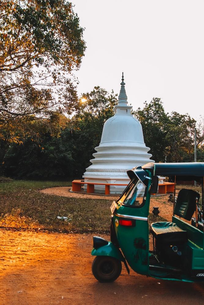 The tuk-tuk we drove around the base of Sigiriya in Sri Lanka