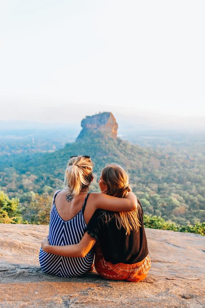 Enjoying the view over Sigiriya from Pidurangala rock in Sri Lanka, one of the highlights of my two weeks in Sri Lanka