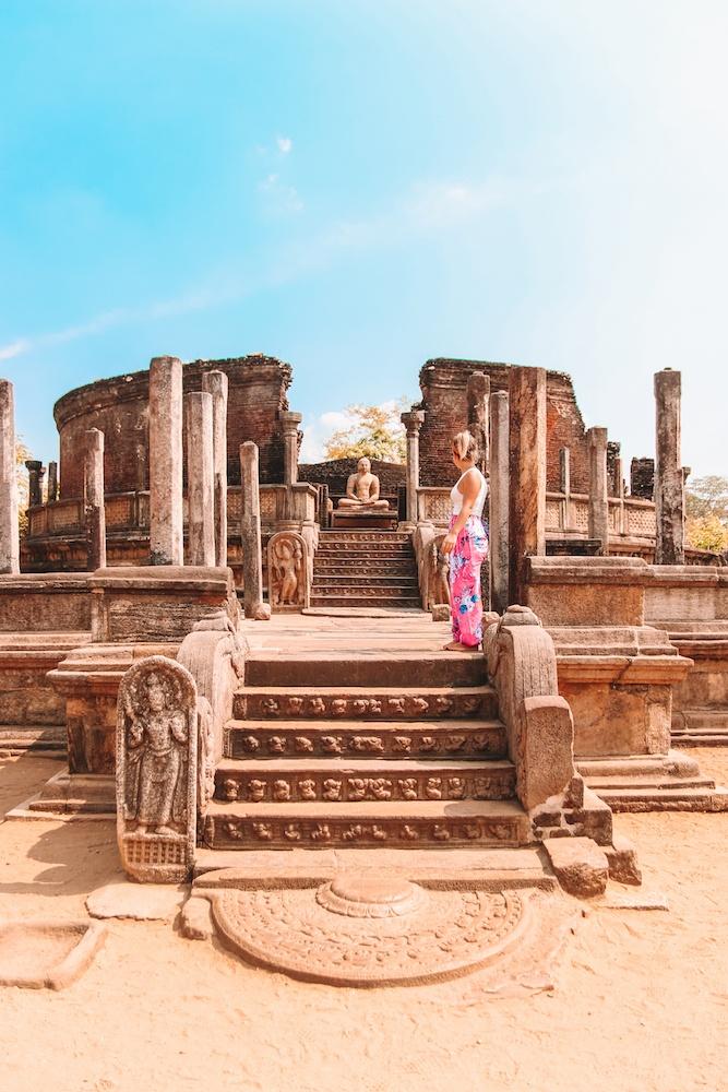 The temple ruins of Polonnaruwa in Sri Lanka