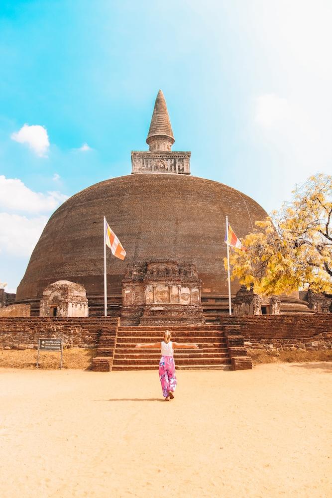 Exploring the ruins of Polonnaruwa in Sri Lanka