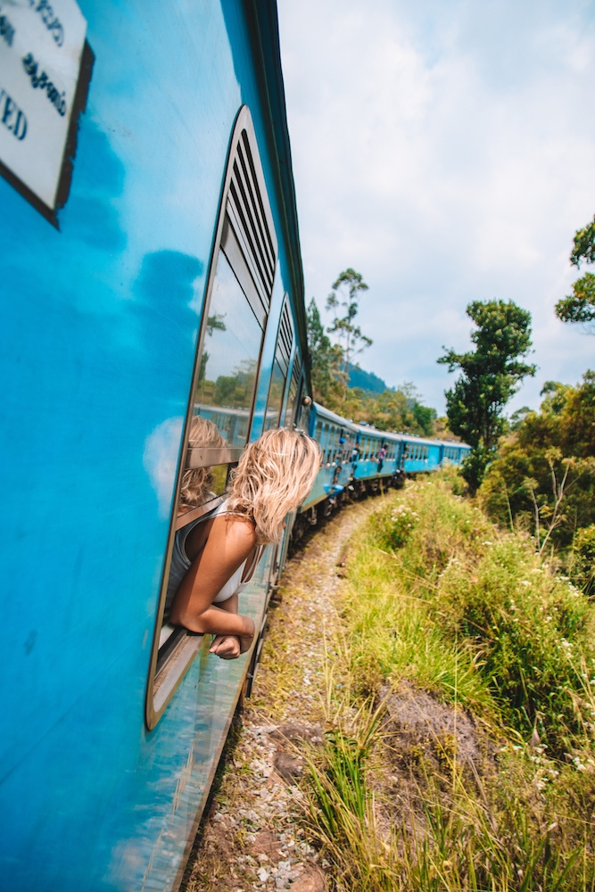 Riding the iconic train from Kandy to Ella, one of the highlights of my two weeks in Sri Lanka