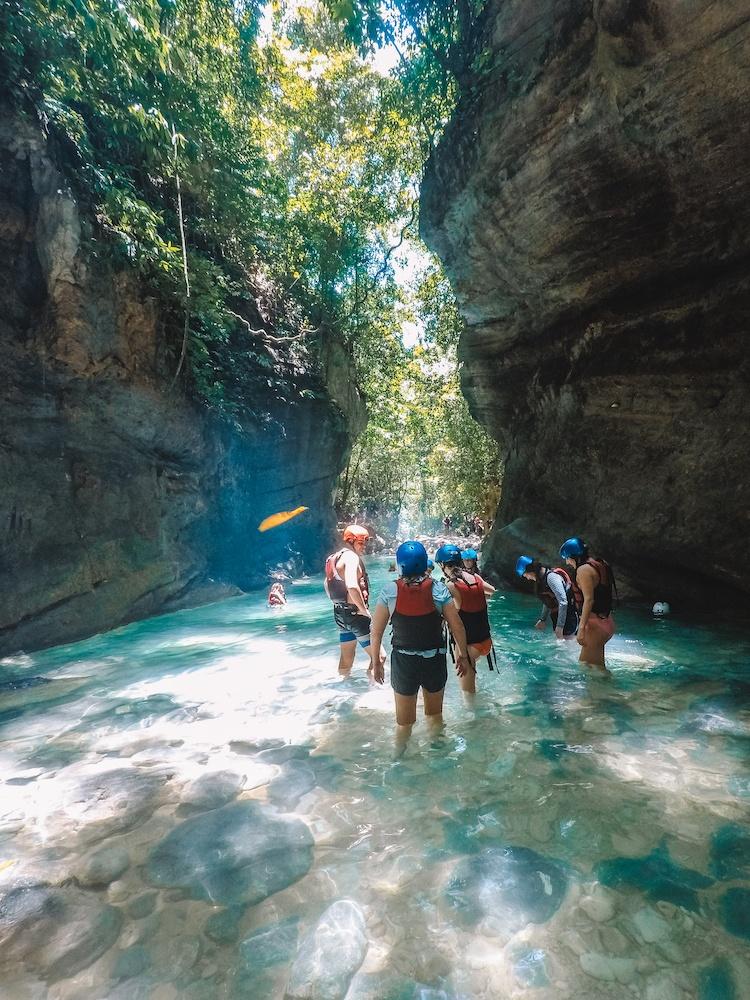 Our group canyoning in Kawasan Falls