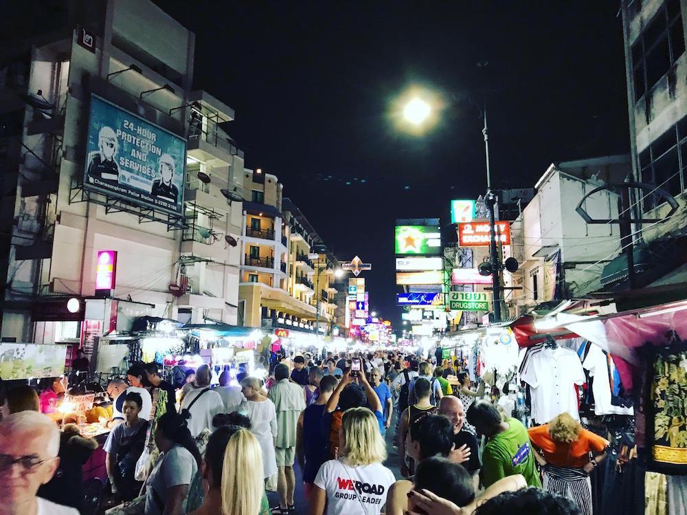 Khao San Road night market in Bangkok
