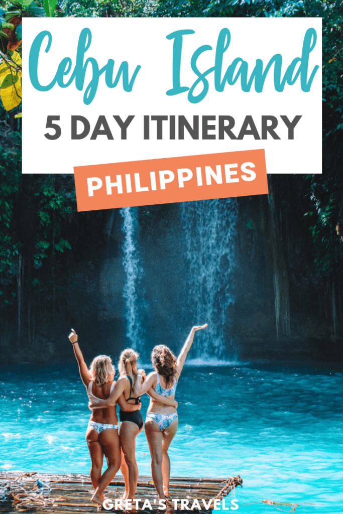 Planning a trip to Cebu Island in the Philippines? Cebu is an amazing island with tons of incredible things to do, so make sure you maximise your time there! This Cebu itinerary covers all the most awesome things to do in Cebu in 5 days, including swimming with turtles, canyoneering at Kawasan Falls, sunset hikes and more. #cebuisland #cebu #5dayitinerary #cebuitinerary #philippines #philippinestraveltips #cebutraveltips #traveltips #traveladvice