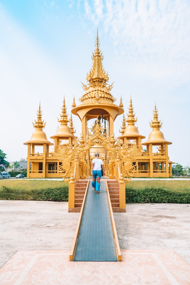 The Golden Temple within Wat Rong Khun in Chiang Rai