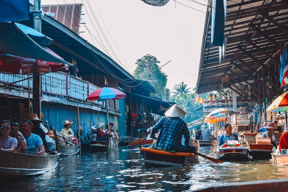 The floating market close to Bangkok, Thailand