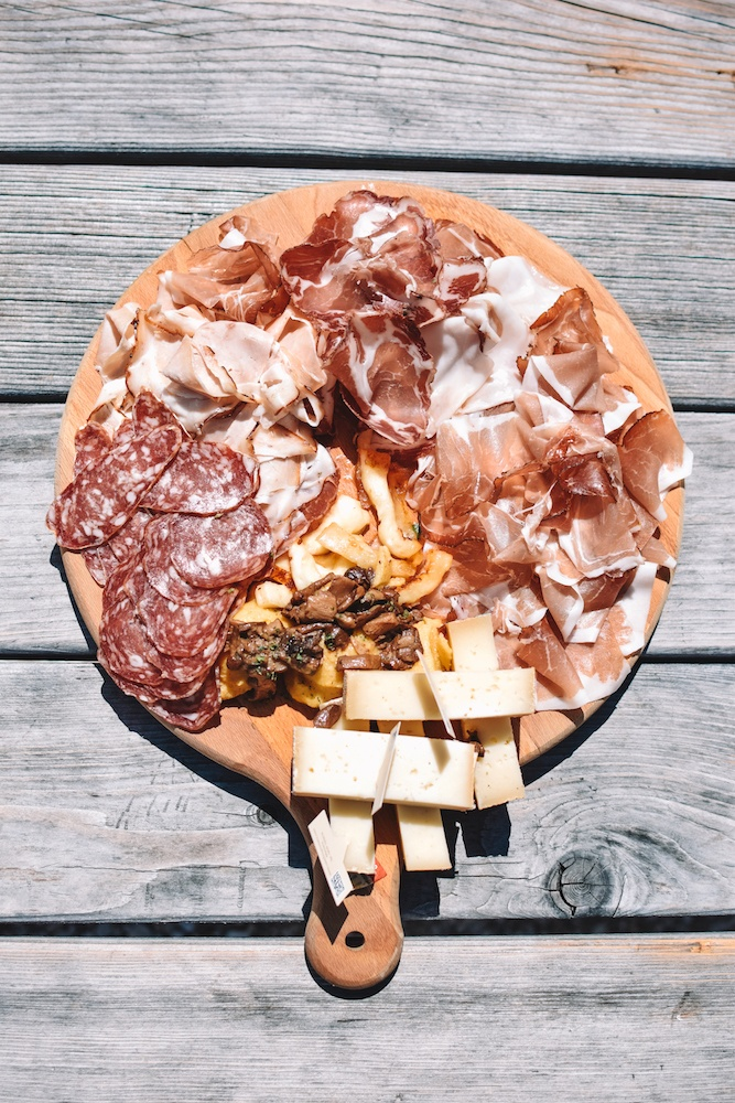 A traditional ham and cheese platter