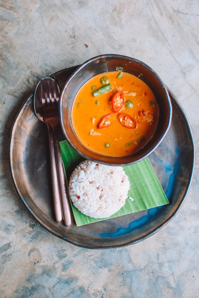 Penang chicken curry - a traditional Thai curry I made at the cooking class in Chiang Mai