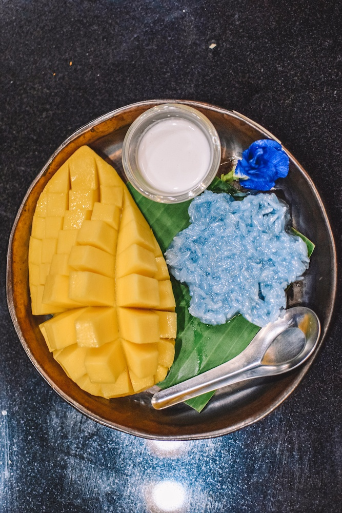 Mango sticky rice, one of the most traditional Thai desserts