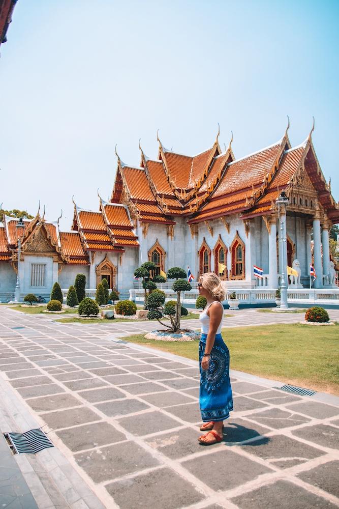 Wat Benchamabophit temple in Bangkok, Thailand