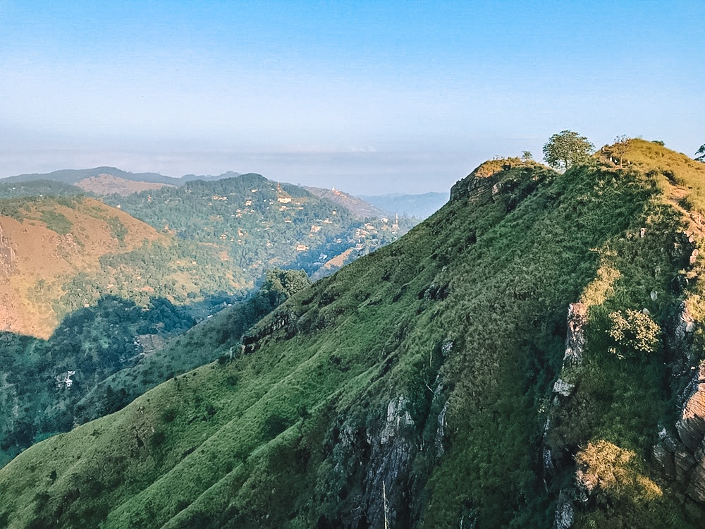 The top of the hills around Ella as seen from Little Adams Peak