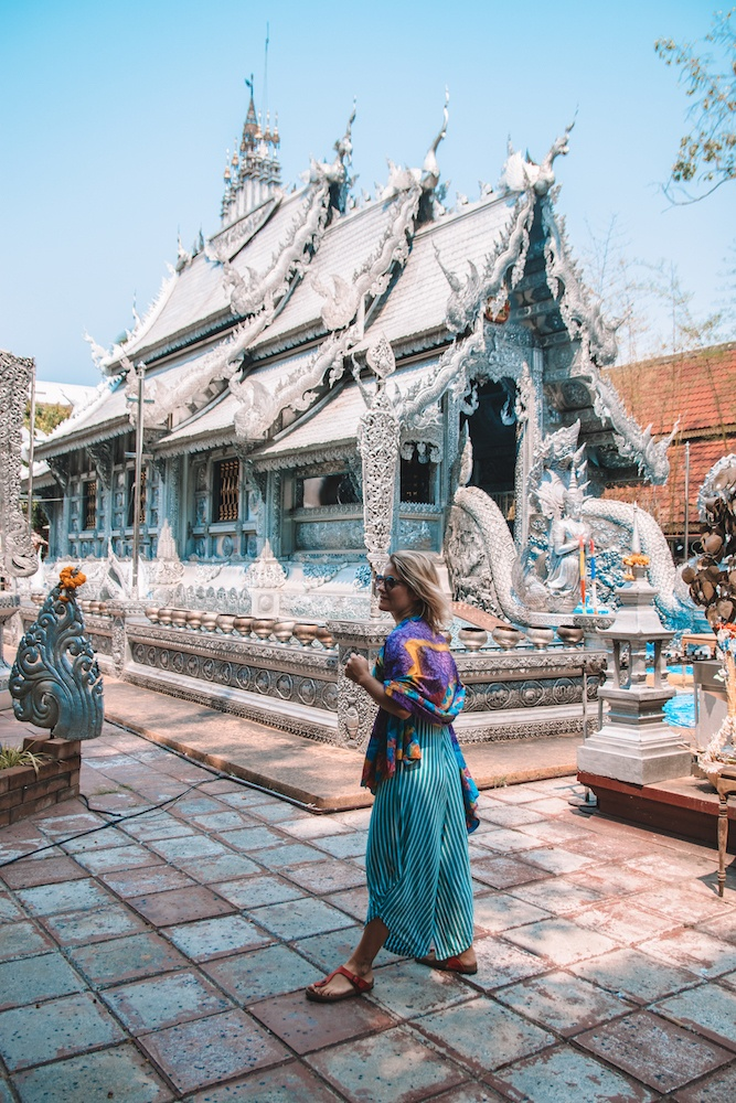The outside of the Silver Temple, Wat Sri Suphan, in Chiang Mai