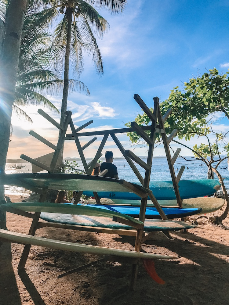 One of the surf stands at Cloud 9 in Siargao, Philippines
