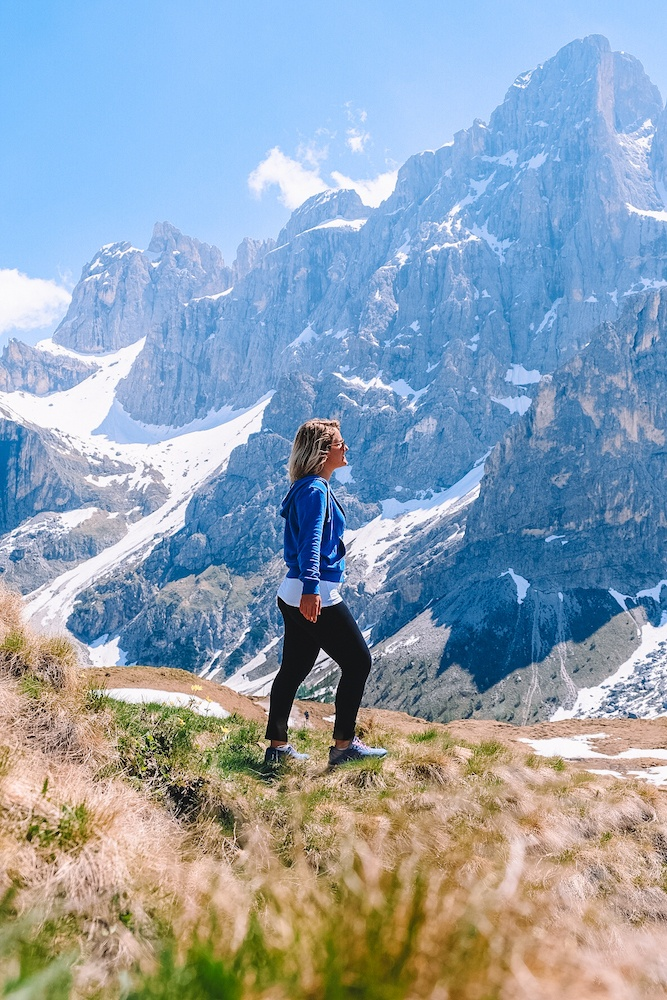 Hiking at Rolle Pass in Trentino