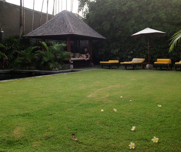 The garden at Serene Villa, photo by Girls Getaway