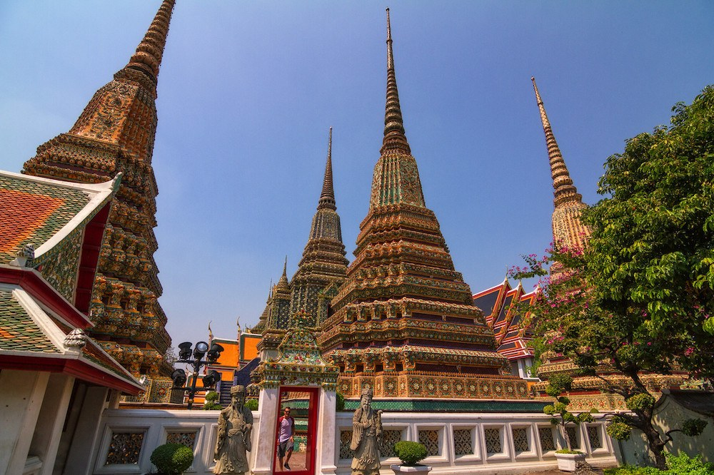 The spires of Wat Pho in Bangkok, photo by The Kiwi Couple