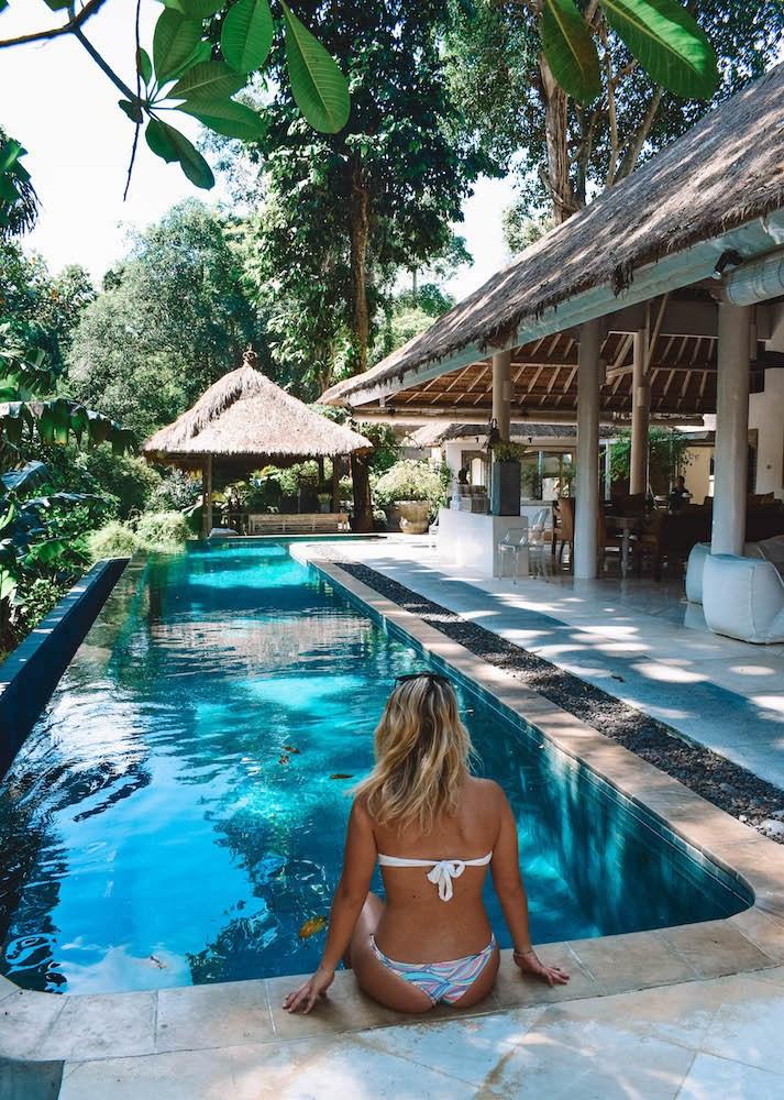 The main pool at Villa Sungai