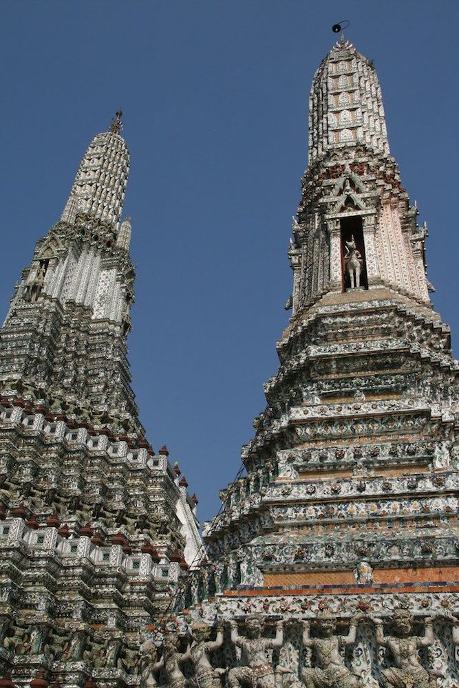 The spires of Wat Arun, photo by The Nomadic Vegan