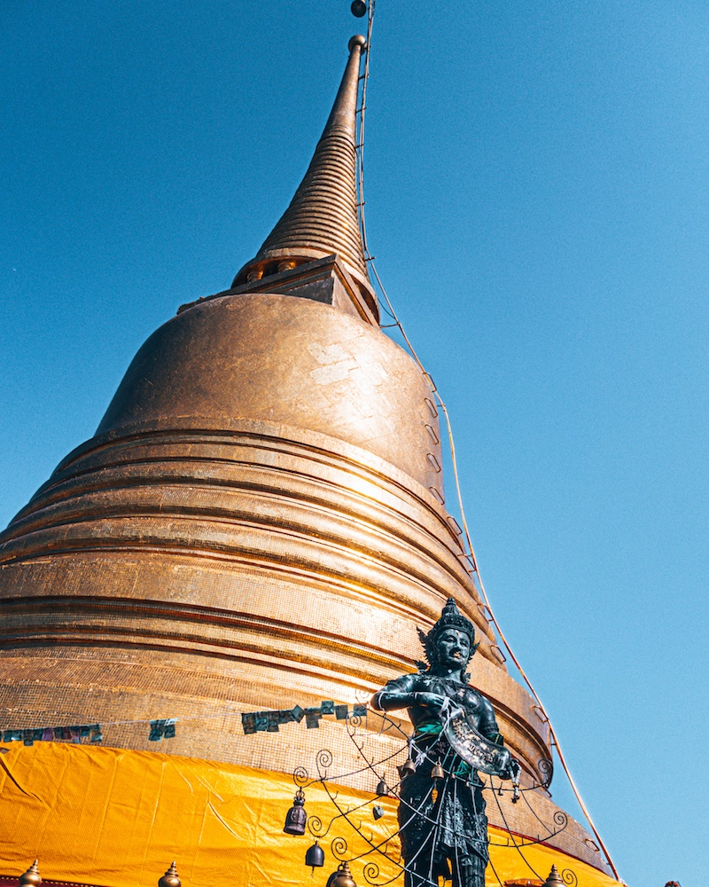 The golden stupa of Wat Saket in Bangkok, photo by We Did It Our Way