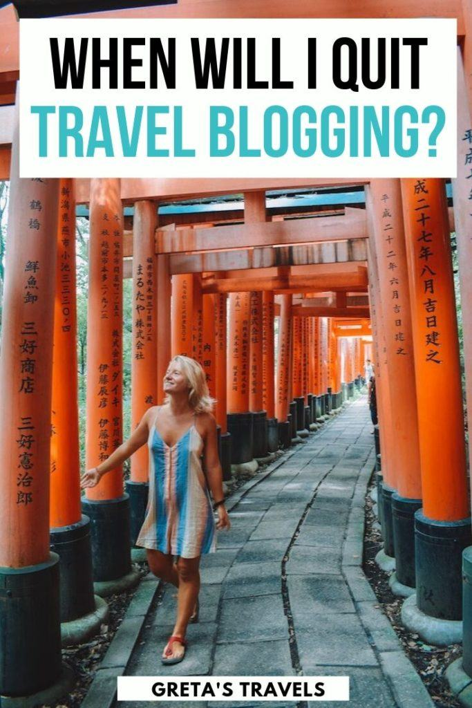 The most common question I receive when I tell people I'm a full time travel blogger is how much longer I plan on doing this job. Discover the answer in this post #travelblog #blog