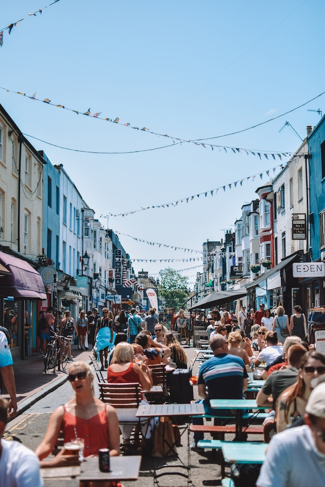 The colourful streets of Brighton