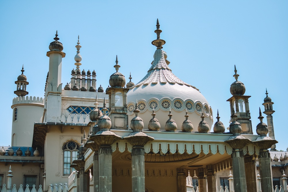 Rooftop details of the Royal Pavillion in Brighton
