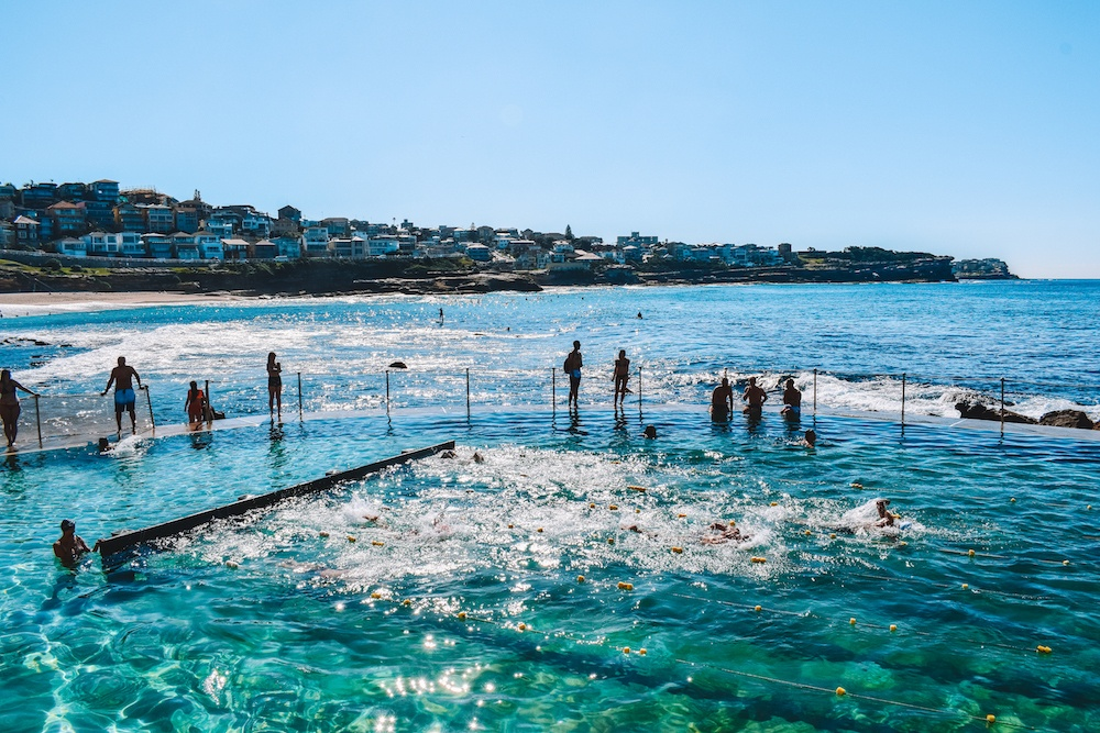 The swimming pool at Bronte Beach, Sydney