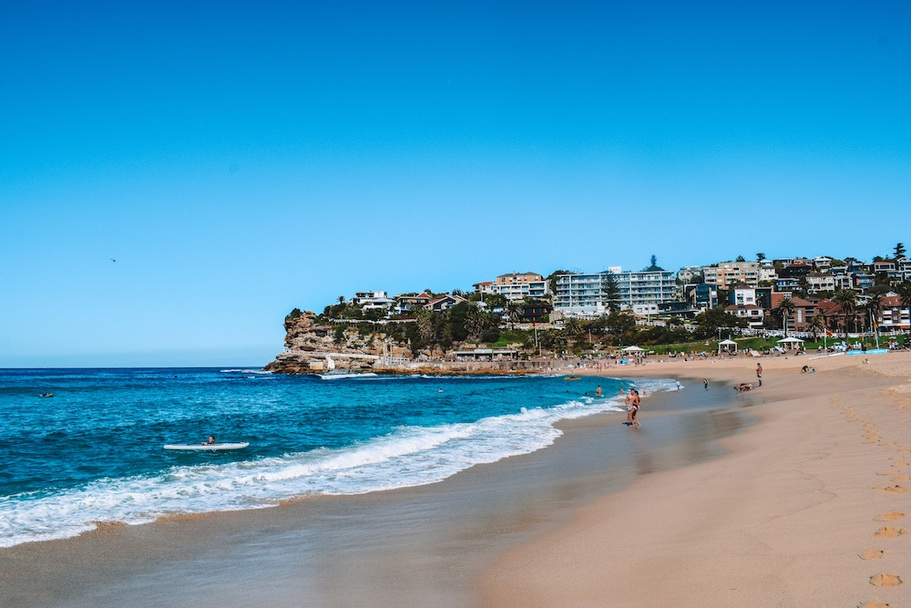 The beach in Bronte, where we stopped for a swim during our Coogee to Bondi walk