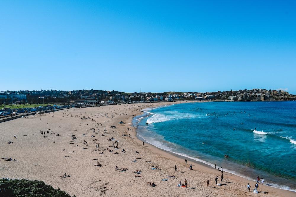 The beach in Bondi, Sydney