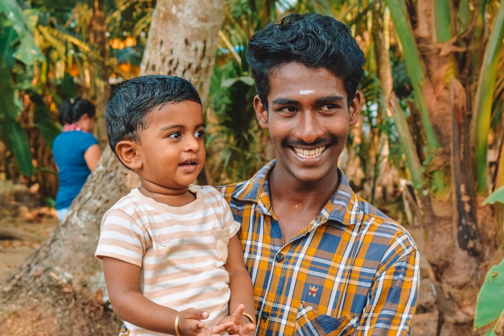 Young locals at a village we visited in Kerala, India