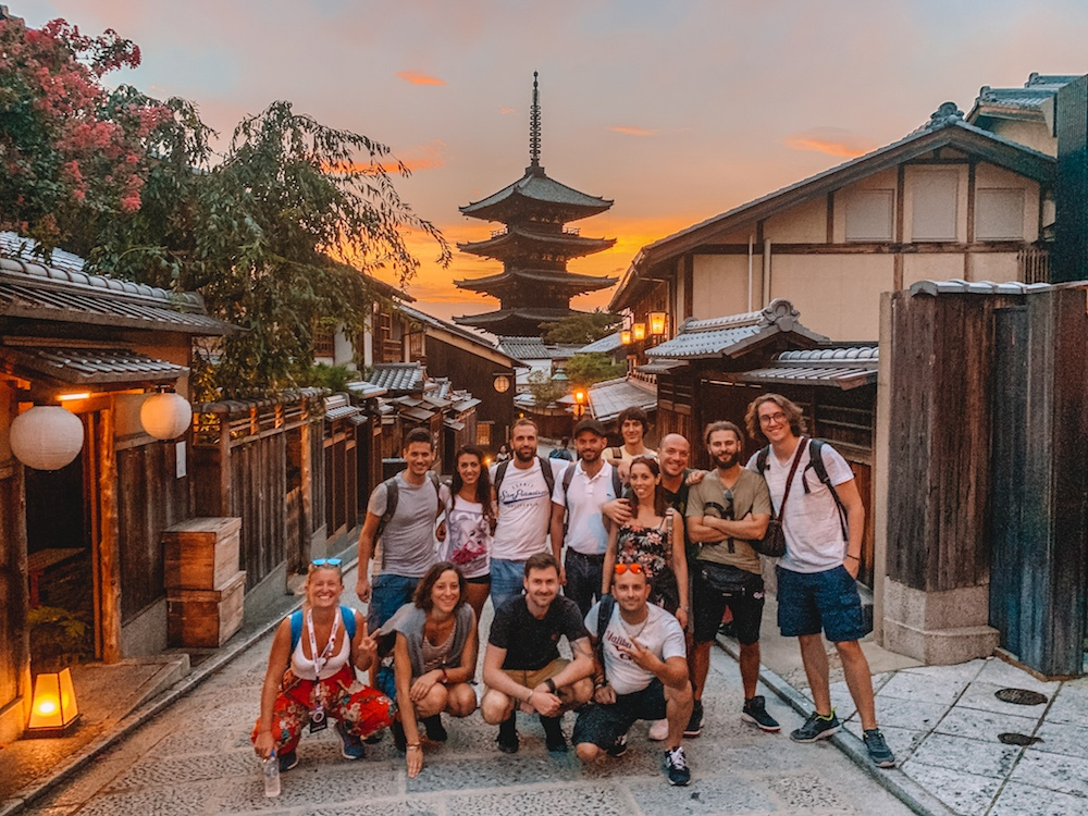 The group I took to Japan - possibly the most challenging trip I've done as tour leader