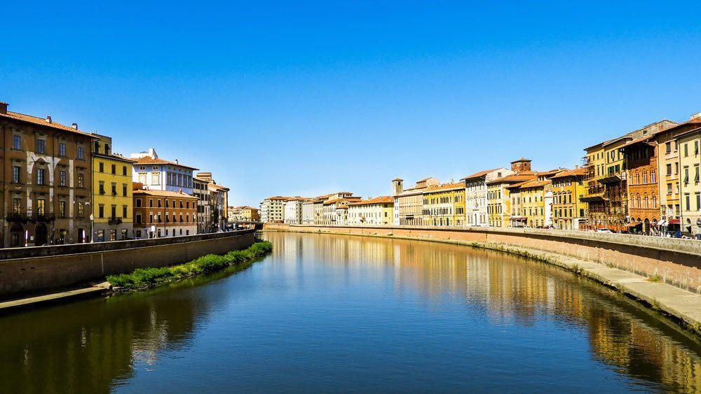 River Arno in Pisa, Italy