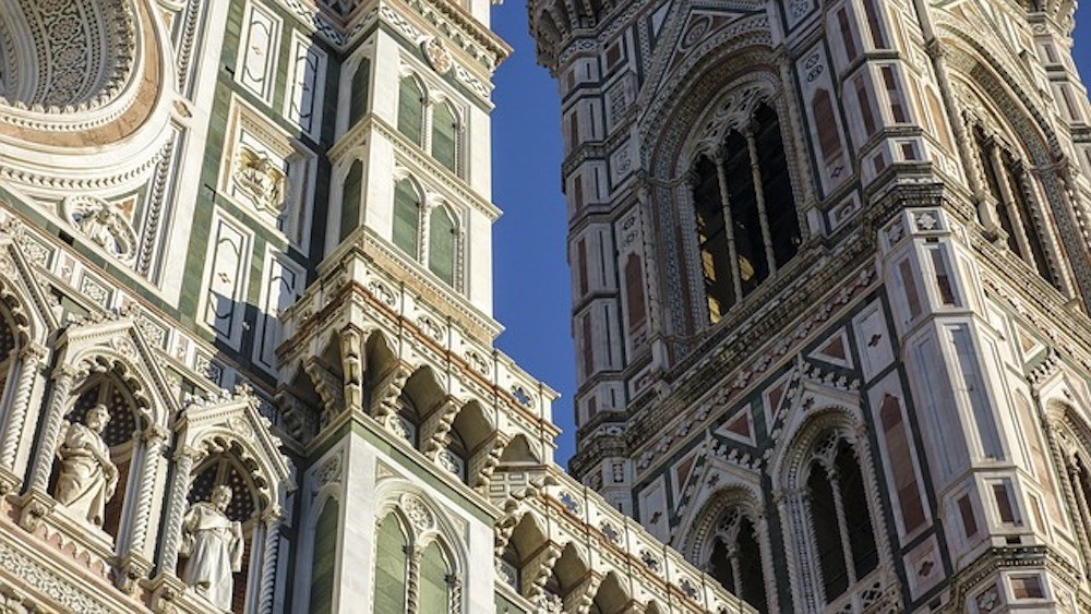 Details of the Florence Duomo cathedral