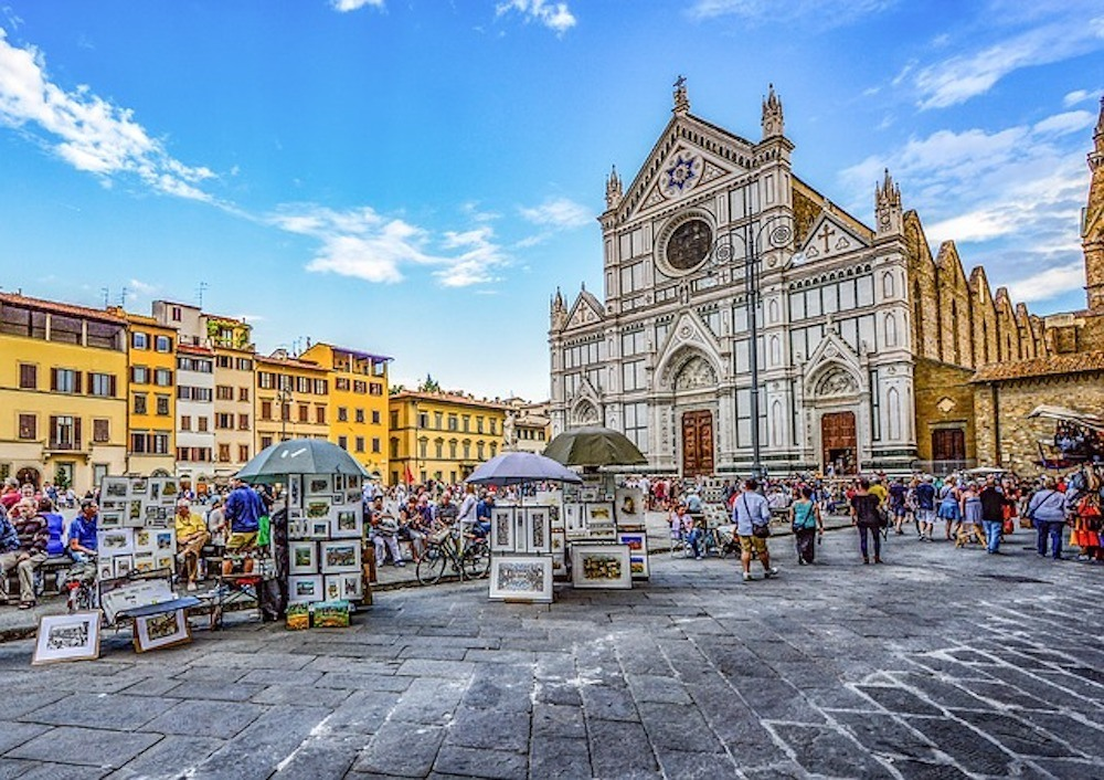 Street markets in Florence, Italy