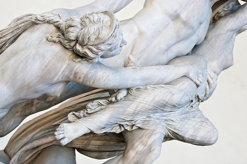 Marble statues in Florence