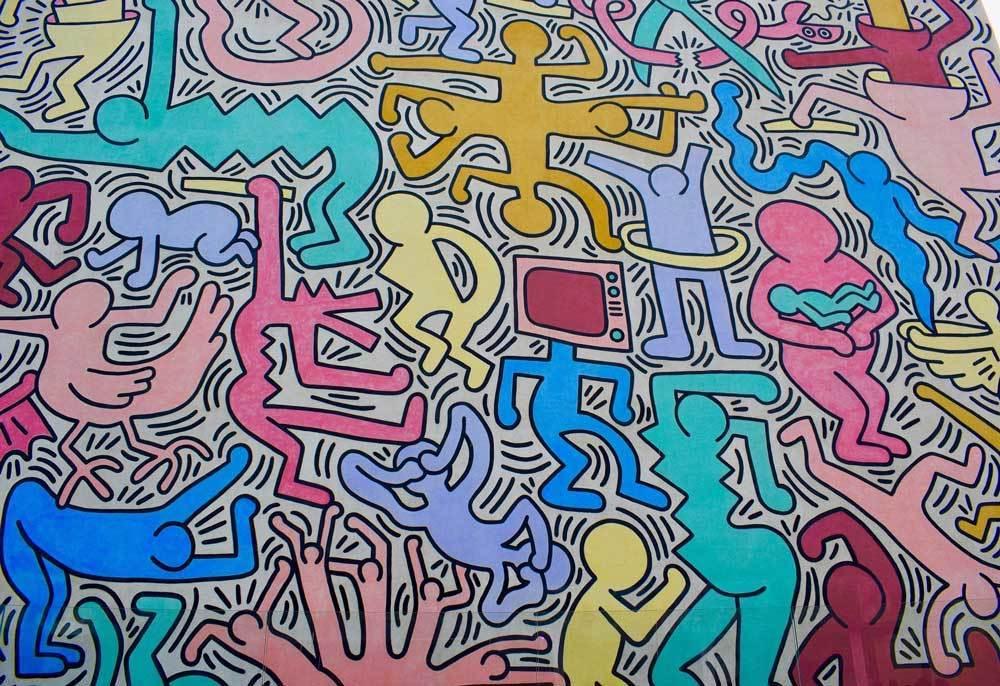 Keith Haring mural in Pisa, Italy