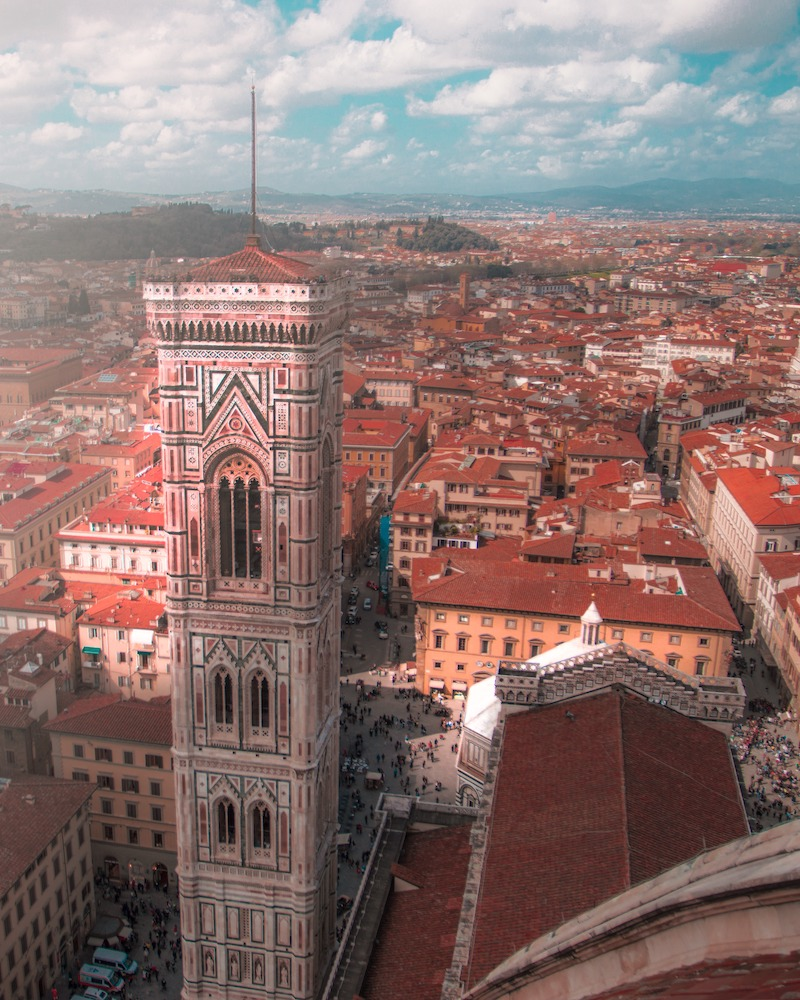 The view from the top of the dome of the Duomo of Florence - Photo by Giuseppe Trimarchi on Scopio
