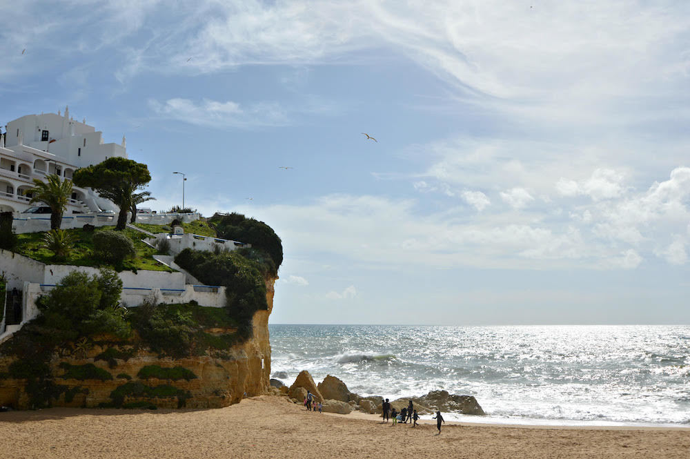 Sunny beaches in the Algarve coast, photo by Salut From Paris