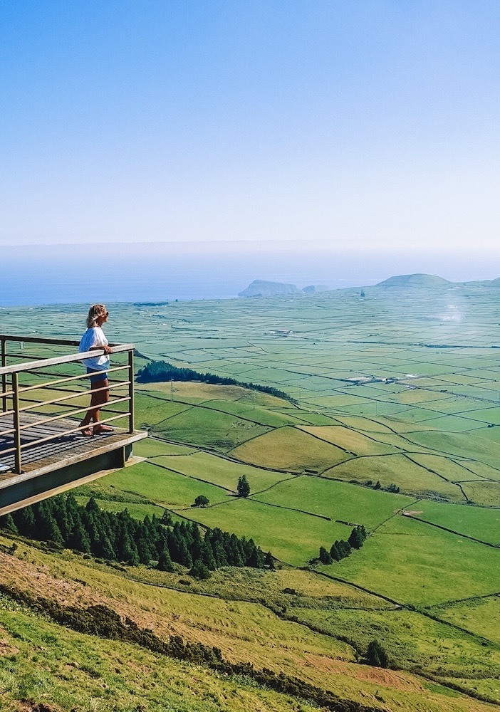One of the stunning viewpoints on Terceira Island, Azores