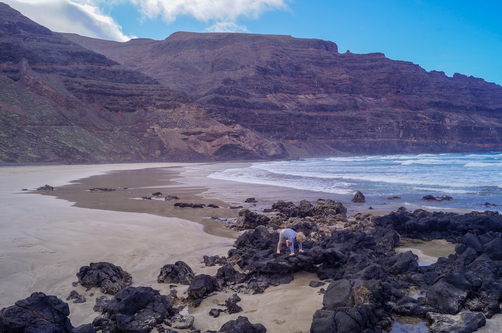 Orzola Beach in Lanzarote, photo by TraveLynn Family
