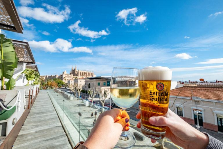 Drinks with a view in Palma de Mallorca, photo by The Travelling Stomach